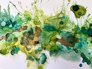 Alcohol Ink on Yupo paper